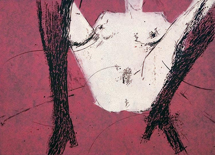 Erotina 11; linoryt, 47x65 cm, 2003 r.