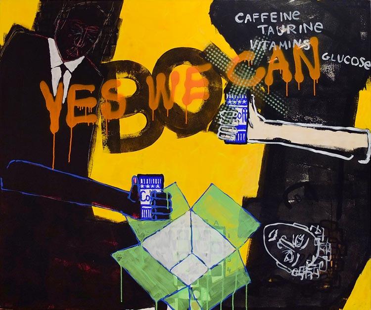 Yes we can, akryl/płótno, 100x120 cm, 2012 r.