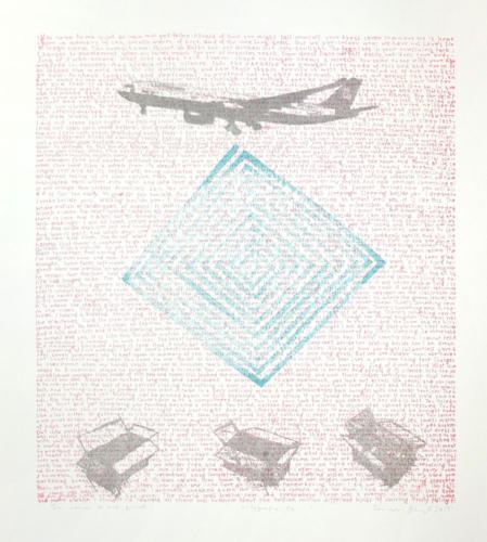 You come to me quiet..., litografia, 65x85 cm, 2015 r.