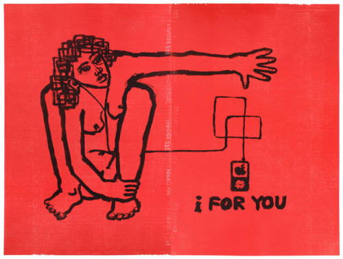 I For You; litografia / drzeworyt, 95x130 cm, 2009 r.