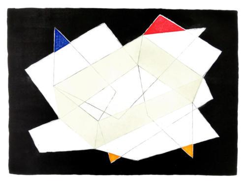 box symptom, lithography/woodcut/collage, 70x100 cm, 2019