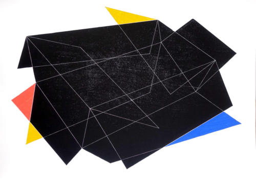 box symptom, woodcut, 70x100 cm, 2019